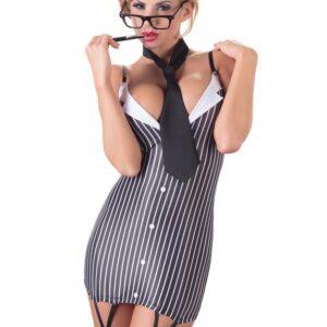 Cottelli Sexy Secretary Suspender Dress and Tie Set