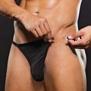 Envy Black Low-Rise G-String with Magnetic Clip