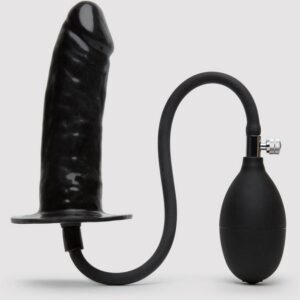 Cock Locker Inflatable Penis Butt Plug 6 Inch