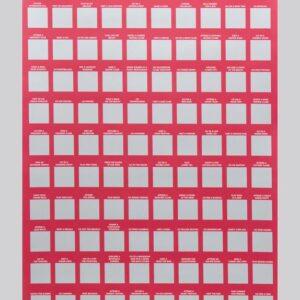 100 Dates Scratch Off Bucket List Poster