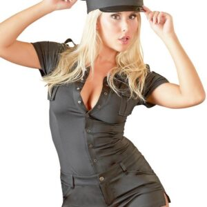 Cottelli Black Sexy Cop Playsuit Costume