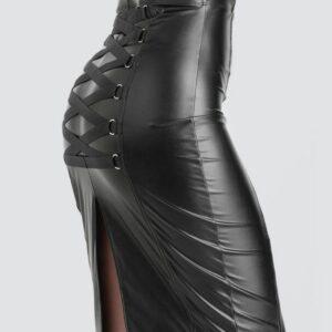 Lovehoney Fierce Black Leather-Look Skirt