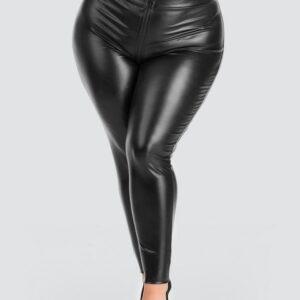 Lovehoney Plus Size Fierce Wet Look Zip-Around Leggings
