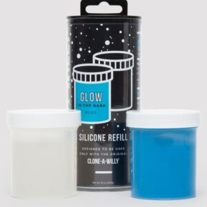 Clone-A-Willy Dark Blue Glow In the Dark Silicone Refill