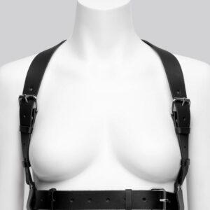 DOMINIX Deluxe Leather Racerback Harness