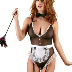 Cottelli French Maid Sheer Crotchless Body