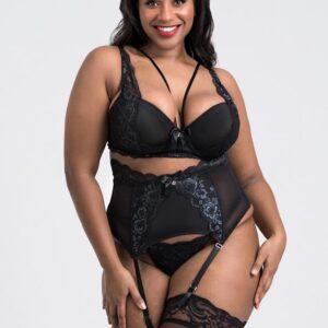 Lovehoney Plus Size Dark Enchantment Black Lace Bra Set