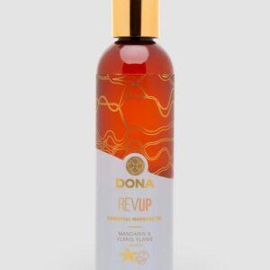 DONA Rev Up Mandarin and Ylang-Ylang Massage Oil 120ml