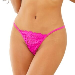 Escante Hot Pink Lace G-String