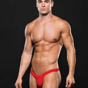 Envy Red Microfibre Zip Front Thong